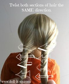 rope braid. do this on wet hair, then twist the two strands around each other for easy messy waves overnight :)