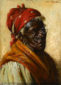 All Of Harry Roseland Painting | ROSELAND Harry Herman,AN ELDERLY AFRICAN AMERICAN LADY,Freeman Fine ...