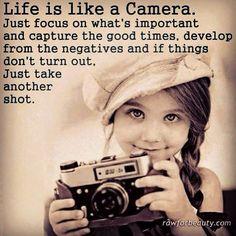 Life's like a camera...