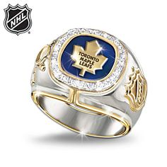 Toronto Maple Leafs® Diamond Ring I'd LOVE one of these Nhl Hockey Jerseys, Nhl Players, Championship Rings, Sports Wallpapers, Toronto Raptors, Toronto Blue Jays, National Hockey League, Toronto Maple Leafs, Ice Hockey