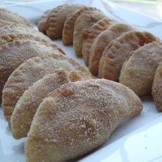 Empanadas Recipe on Yummly. Mexican Pastries, Mexican Sweet Breads, Mexican Bread, Mexican Dishes, Mexican Food Recipes, Cookie Recipes, Dessert Recipes, Mexican Bakery, Potluck Recipes