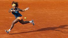 Serena in flight.