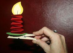 Paper candles. Papier Kerzen Weihnachtsbaum Anhänger