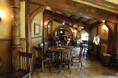 Hobbit Style Homes   Hobbit Themed Green Dragon Pub Opened in Hobbiton, near Matamata, New ...