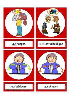 Flashcards_Verben_In der Schule_4_mittel