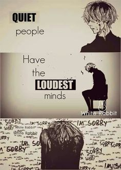 Quiet people have the loudest minds, sad, quote, text, anime boy; Anime Please tell me the name of this Anime and/or character if you know