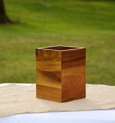 Everyday Rustic Wood Utensil Holder by PennRustics on Etsy