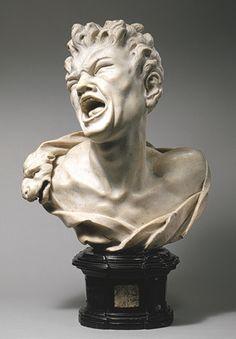 Bust of Marsyas, ca 1680-1685, artist Balthasar Permoser (German, 1651-1732)