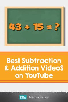 Kick up the way you teach math by using some of these cool subtraction and addition videos. There are hundreds out there, but these are our faves. Math Teacher, Teaching Math, Teaching Resources, Maths, Counting Songs, Teaching Addition, Kindergarten Music, Math Blocks, Silly Songs