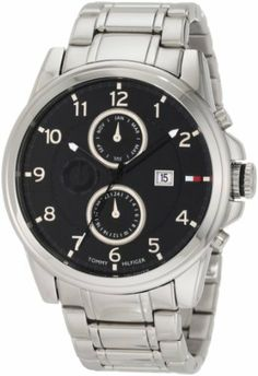 Tommy Hilfiger  Men's 1710296 Classic Stainless Steel Black  Sub dial  Watch Tommy Hilfiger. $88.00. Deployment Clasp. Day - date feature. Silver Arabic Numerals. Quartz movement. Black Multi function dial. Save 30% Off!