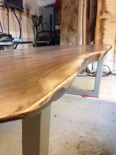 Beautiful Live Edge Walnut Dining Table. Finished With A Water Based  Polyurethane. Custom Trapezoid