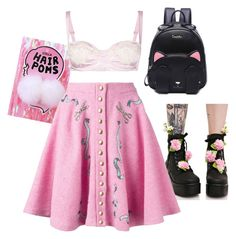 """""""Melanie Martinez - Everyday wear"""" by higheranimal ❤ liked on Polyvore featuring Sugarbaby, Olympia Le-Tan and Dolce&Gabbana"""