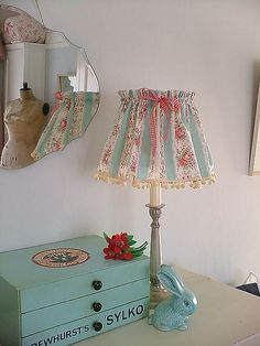 cute bedroom vignette and great reflection in the vintage mirror: by prettyshabby on flickr