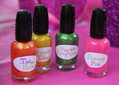 #Mad #Hatter #Party #Favors- {Personalized Nail Polish labels from Piggy Bank Parties}
