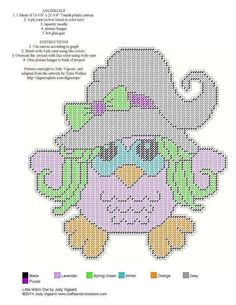 LITTLE WITCH OWL by JODY VIGEANT -- WALL HANGING