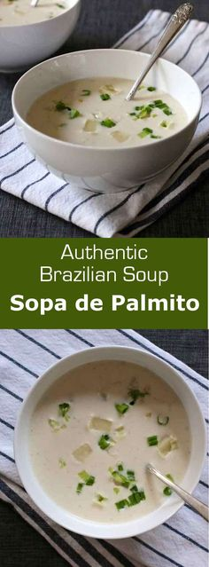 Sopa de palmito is a creamy heart of palm soup that is often served warm but…