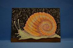 Lwick Original #ACEO Animal Bug Garden #Doodles #Snail Shell   eBay
