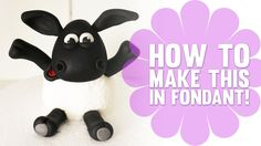 Learn how to make Shaun the Sheep / Timmy Time Cake Topper - Cake Decorating Tutorial