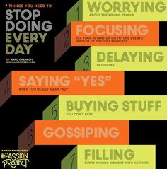 7 things you need to stop doing everyday tips via www.MarcandAngel.com