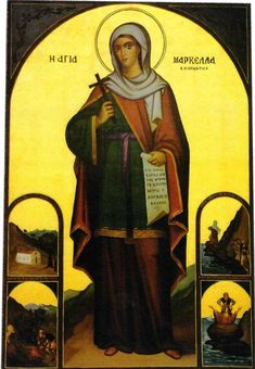 Martyr Marcella of Chios Religious Icons, Religious Art, Chios, Greek Culture, Mary Magdalene, Byzantine Icons, Orthodox Christianity, Catholic Saints, Knights Templar