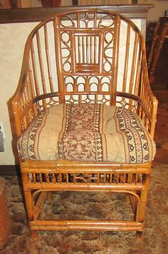 Chinoiserie Chair Vintage Bamboo Rattan Chinese Brighton Chinese Chippendale | eBay