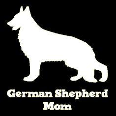 German Shepherd Mom Vinyl Car Window Decal