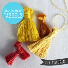 DIY Tutorial How To Make Tassels from Sew DIY