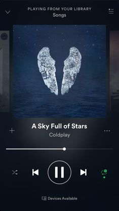 The music player in Spotify just sucks it hides the status bar so you can see the time or your iPhones battery percentage. Some of you guys may have it because most to all of you guys have Android while a very little amount have a iPhone X. Music Mood, Mood Songs, New Music, Coldplay, Musica Spotify, Music Collage, Android Theme, Android Apps, Sky Full Of Stars