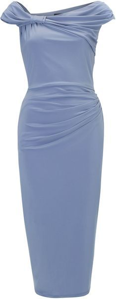 Pied A Terre Blue The Gina Asymmetric Dress