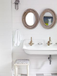 Find the best ideas for cottage bathrooms from #BHG