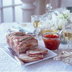 Pork, chicken and pistachio terrine
