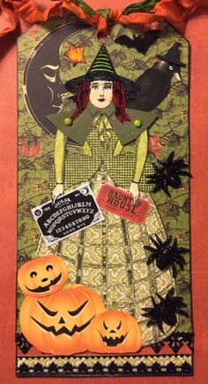 Witch Witch Witch Tag Swap for Character Constructions.  Made with stamps designed by Catherine Moore.  Sept. 2016