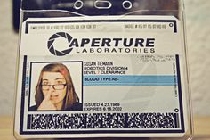 Aperture Science Employee Identification Badge by SyntheticPH, $7.00