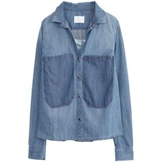 Chemise Tak jean Zadig Voltaire (€190) ❤ liked on Polyvore featuring jeans, blue jeans and blue chemise