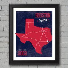 Houston Texans Print  University Prints by UniversityPrints, $12.00