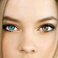 Heterochromia is the term used to describe a person with two different colored eyes.