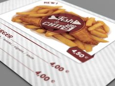 Charly's Burger - Fish'n chips by Maxime Hoernel, via Behance