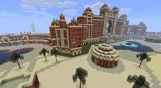 Atlantis Hotel Dubai (Minecraft) how long did it take you? Amazing Minecraft, Minecraft Tips, Minecraft Games, Minecraft Designs, Minecraft Creations, How To Play Minecraft, Minecraft Projects, Minecraft Stuff, Minecraft Construction