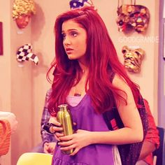 my queen ariana grande gif - Bing Images Ariana Grande Red Hair, Ariana Grande Fotos, Ariana Grande Singing, Victorious Cast, Cat Valentine Victorious, Dangerous Woman, Mode Outfits, Band Outfits, Wattpad