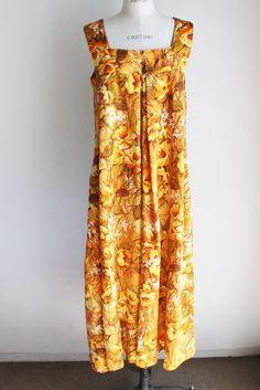 Vintage 1960s Mumu Dress