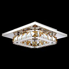 Flush Mount ,  Modern/Contemporary Electroplated Feature for LED Metal Bedroom Dining Room Hallway – USD $ 35.69
