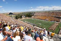 University of Wyoming Cowboys - inside Jonah Field at War Memorial Stadium