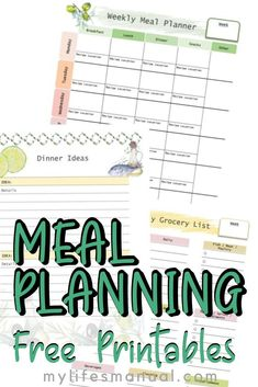 Free Weekly Meal Planner with a Grocery List, Instant Pot Recipes and a Simple Meal Planning PDF Guide Vacation Meal Planning, Monthly Meal Planning, Budget Meal Planning, Food Budget, Weekly Meal Plan Template, Menu Planning Printable, Printables, Family Meal Planner, Free Meal Planner