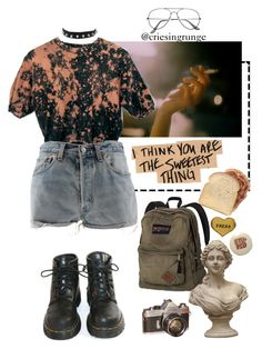 """Untitled #805"" by plumpyprincess ❤ liked on Polyvore featuring Dr. Martens, Levi's, ZeroUV and Me & Zena"