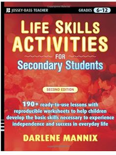 Promoting Success: Life Skills and Social Skills Activities & Ideas for Special Education Life Skills Lessons, Life Skills Classroom, Teaching Life Skills, Social Skills Activities, Classroom Ideas, Autism Classroom, Coping Skills, Secondary Activities, Library Activities