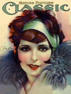 Vintage Movie Magazine Cover - Clara Bow