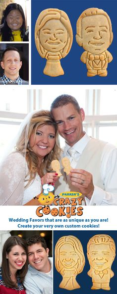 Create a custom cookie of You & your Fiancé today!! Discover the magic at www.parkerscrazycookies.com. As seen on the Food Network!