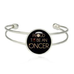 Proud to be an Oncer Cuff Bracelet Once upon a Time Bangle Fandom Jewelry