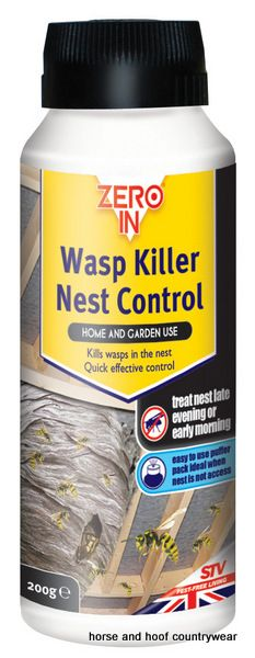 STV International Wasp Nest Killer Powder Puffer pack for control of wasps in the nest Treat nest early morning or late evening Contains permethrin.
