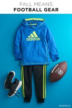 Is your little athlete ready for football season? Fall sports are almost here! And whether he's scoring touchdowns on the field, three-pointers on the court or just heading to class, adidas has the comfortable athletic gear you won't be able to get him out of. Shop adidas gear for boys at Kohl's.